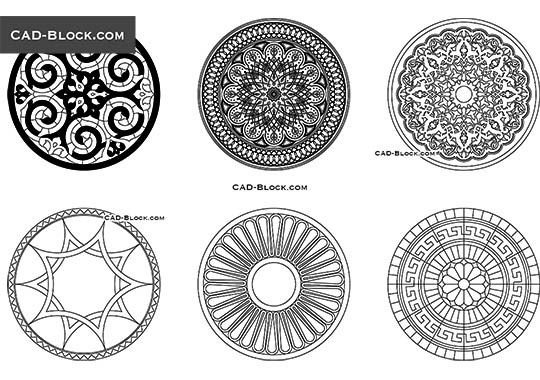 Round Decorative Pattern - free CAD file