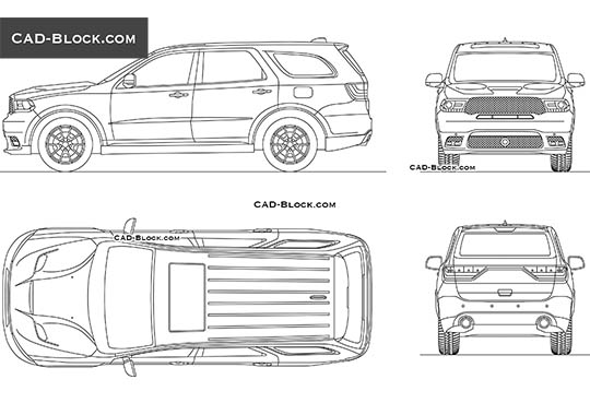 Dodge Durango SRT (2017) - download free CAD Block