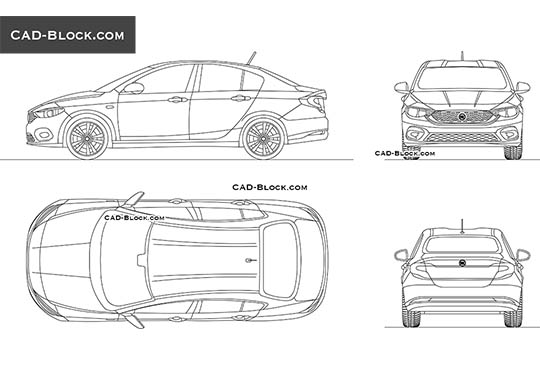 Fiat Tipo - download free CAD Block