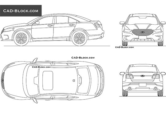 Ford Taurus - download free CAD Block