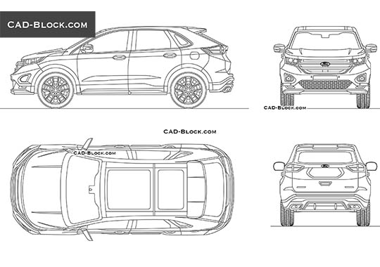 Ford Edge - download free CAD Block