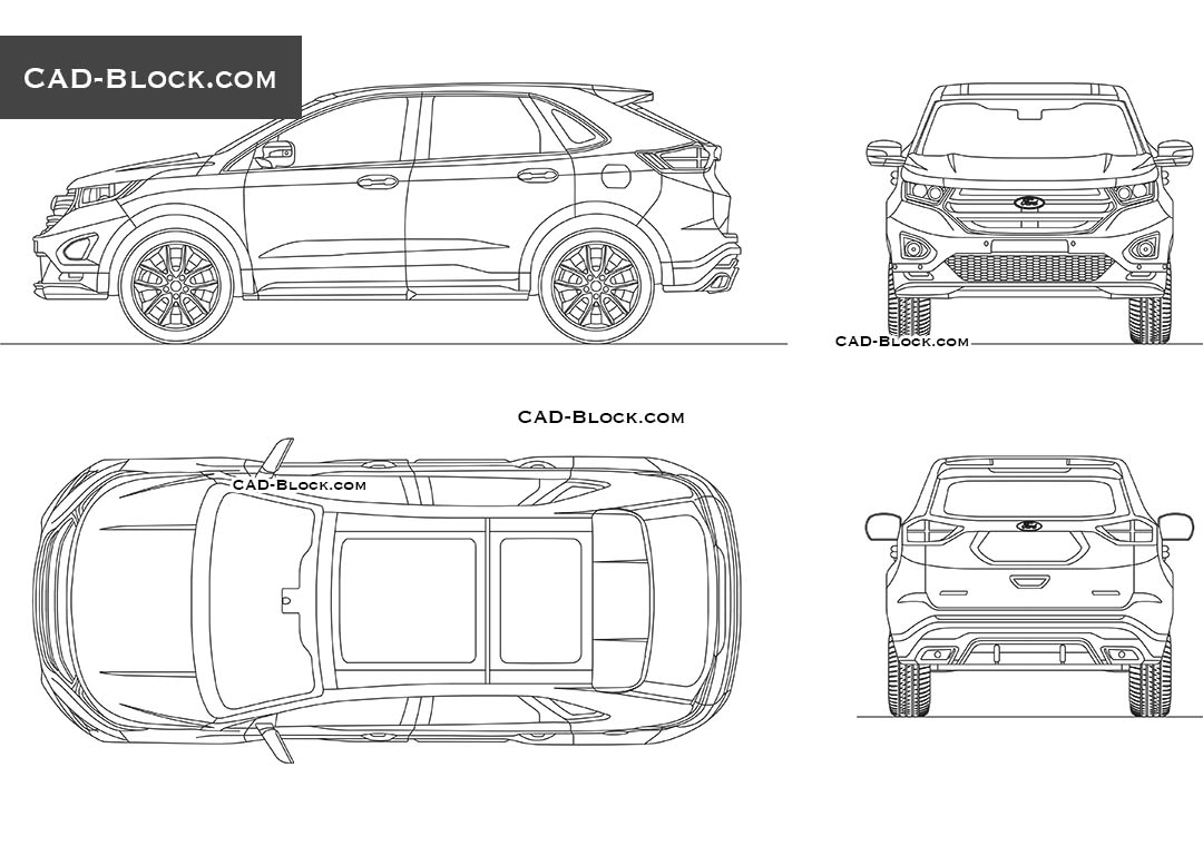 Ford Edge - CAD Blocks, AutoCAD file
