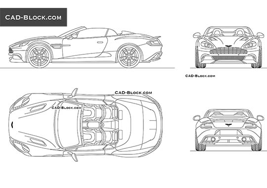 Aston Martin Vanquish - download free CAD Block