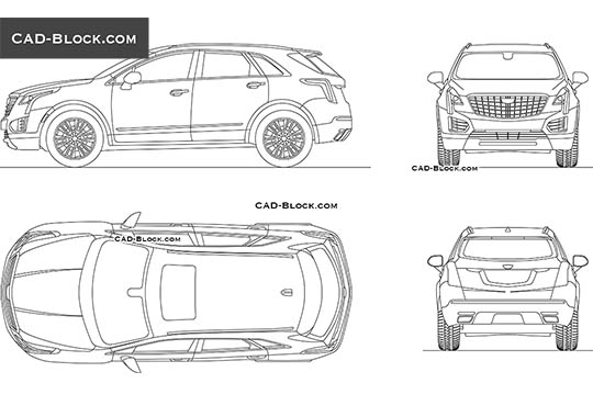 Cadillac XT5 buy AutoCAD Blocks