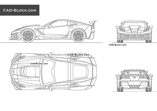 Chevrolet Corvette - download free CAD Block