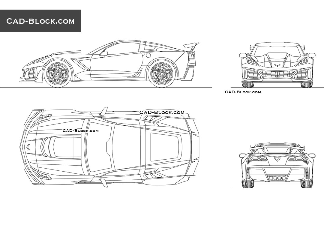 Chevrolet Corvette - CAD Blocks, AutoCAD file
