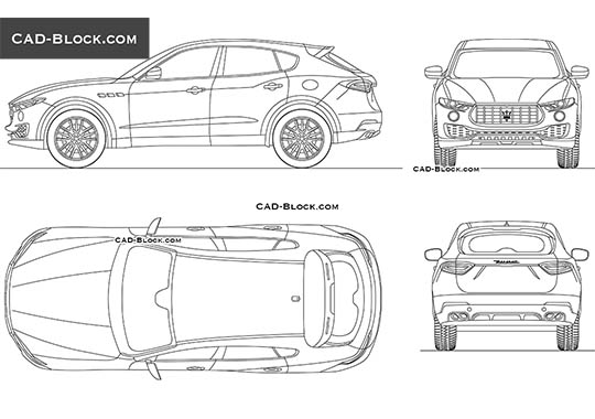 Maserati Levante - download free CAD Block