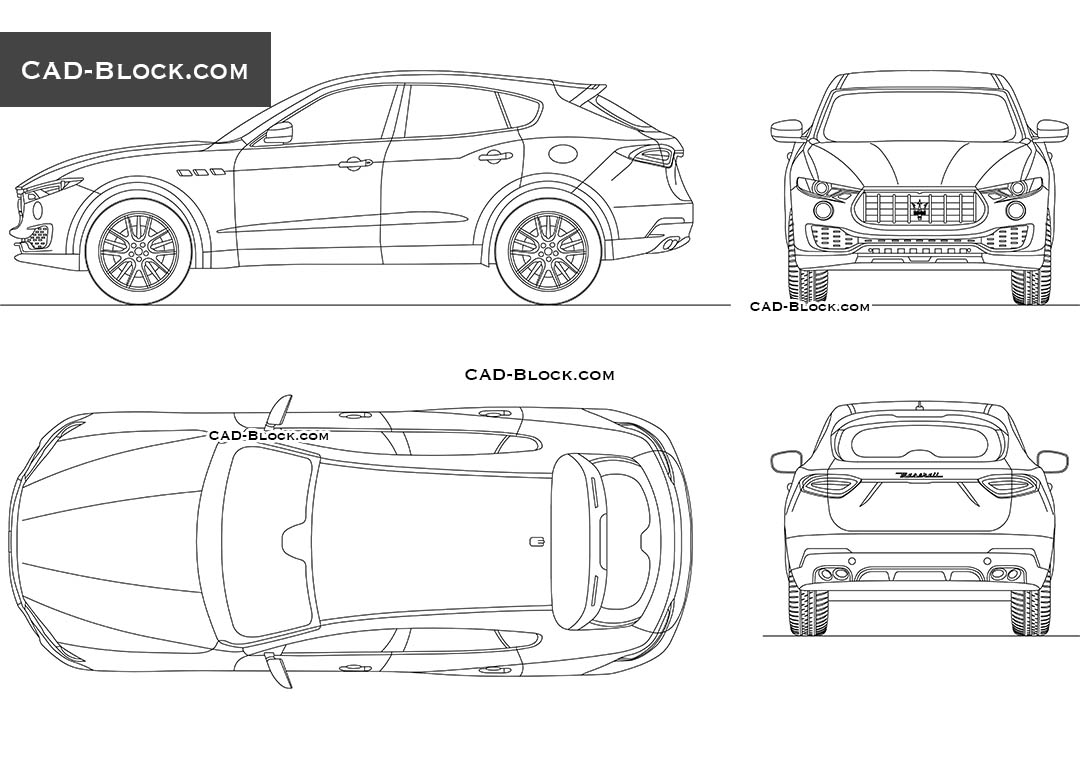 Maserati Levante - CAD Blocks, AutoCAD file