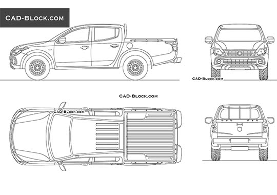Dodge Ram 1200 Double Cab ST - download free CAD Block
