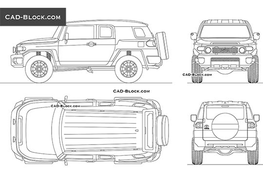 Toyota FJ Cruiser buy AutoCAD Blocks