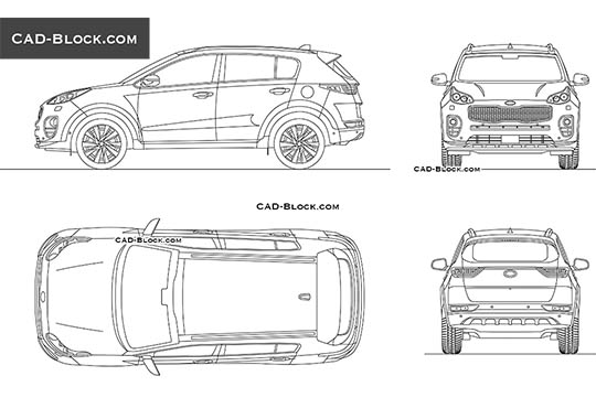 Kia Sportage - download free CAD Block