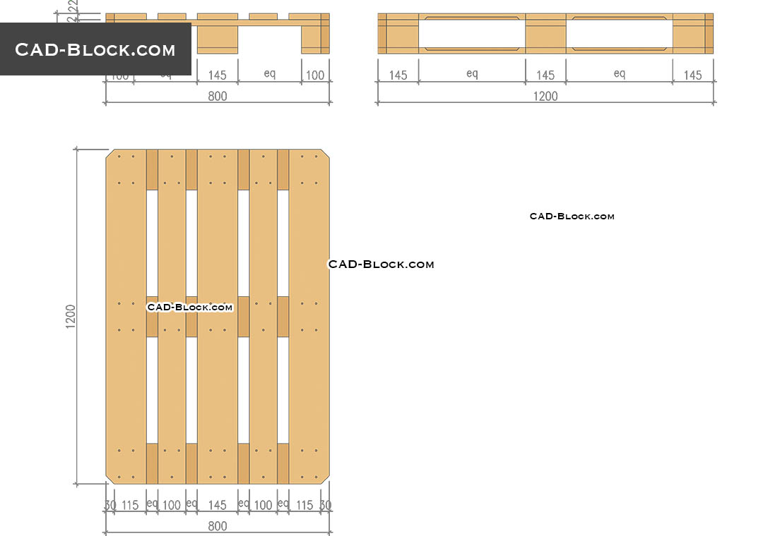 Euro Pallet - CAD Blocks, AutoCAD file