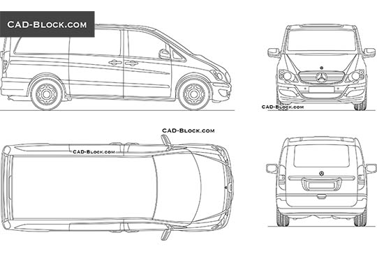 Mercedes-Benz Viano - download free CAD Block