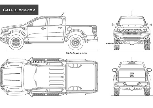 Ford Ranger Raptor buy AutoCAD Blocks