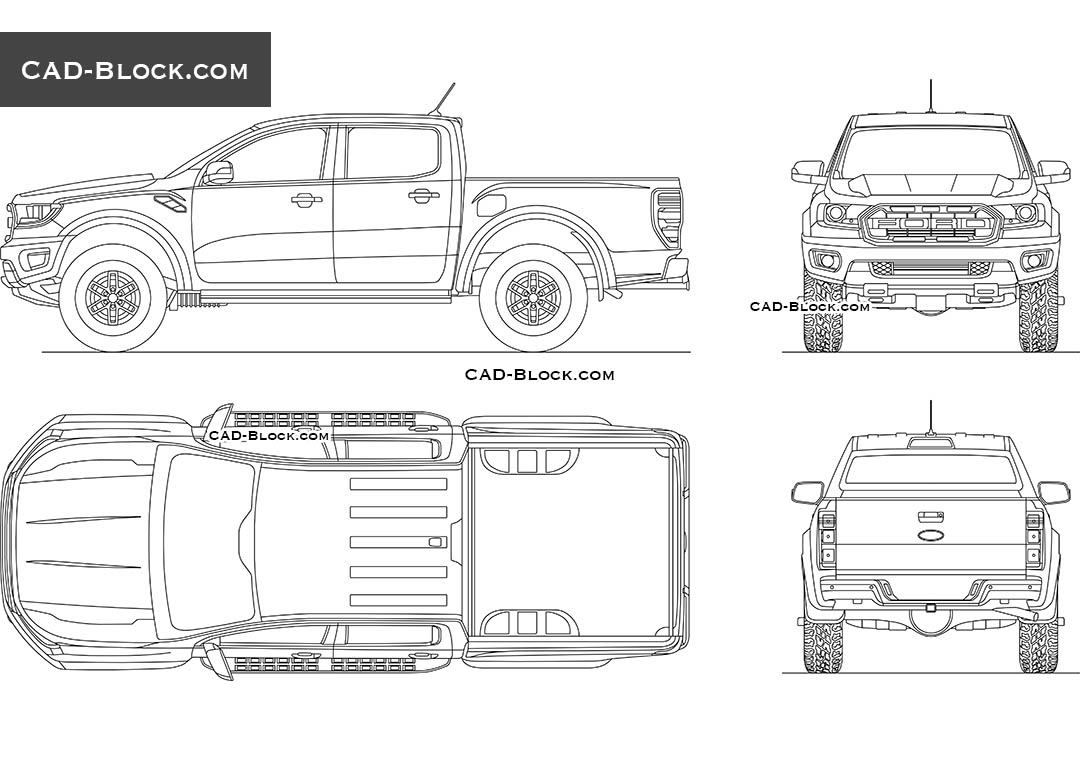 Ford Ranger Raptor - CAD Blocks, AutoCAD file