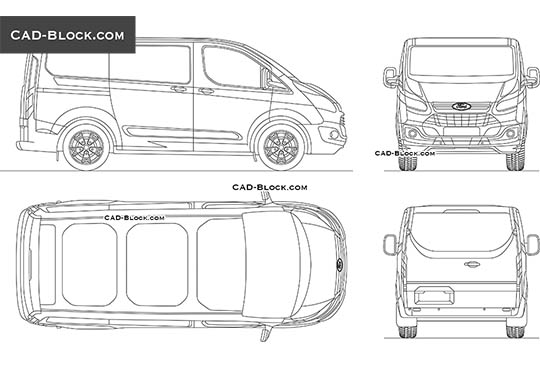 Ford Tourneo Custom - download free CAD Block
