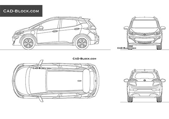 Opel Ampera-E - download free CAD Block