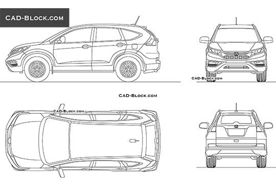 Honda CR-V - download free CAD Block