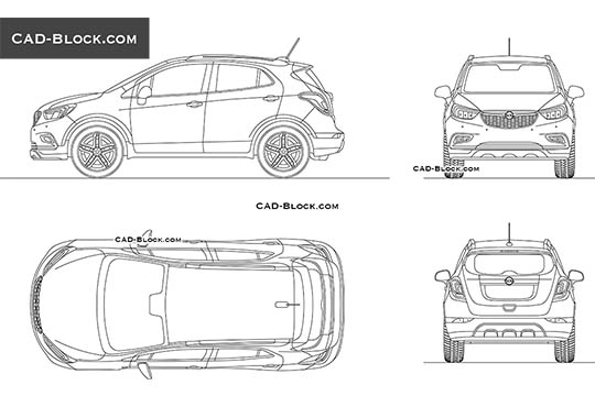 Opel Mokka X - download free CAD Block