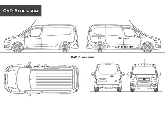 Ford Transit Connect buy AutoCAD Blocks