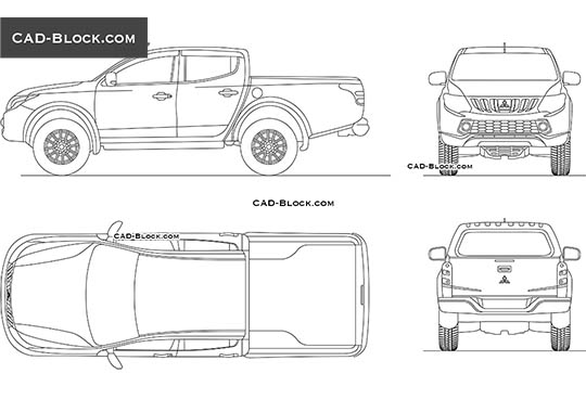 Mitsubishi Triton Double Cab - download free CAD Block