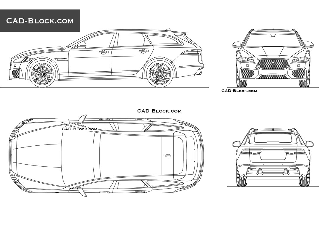 Jaguar XFS - CAD Blocks, AutoCAD file