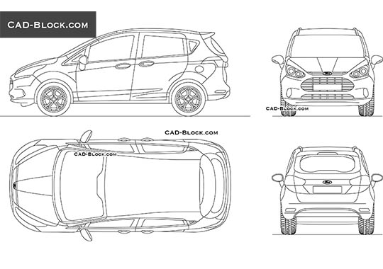 Ford B-Max buy AutoCAD Blocks