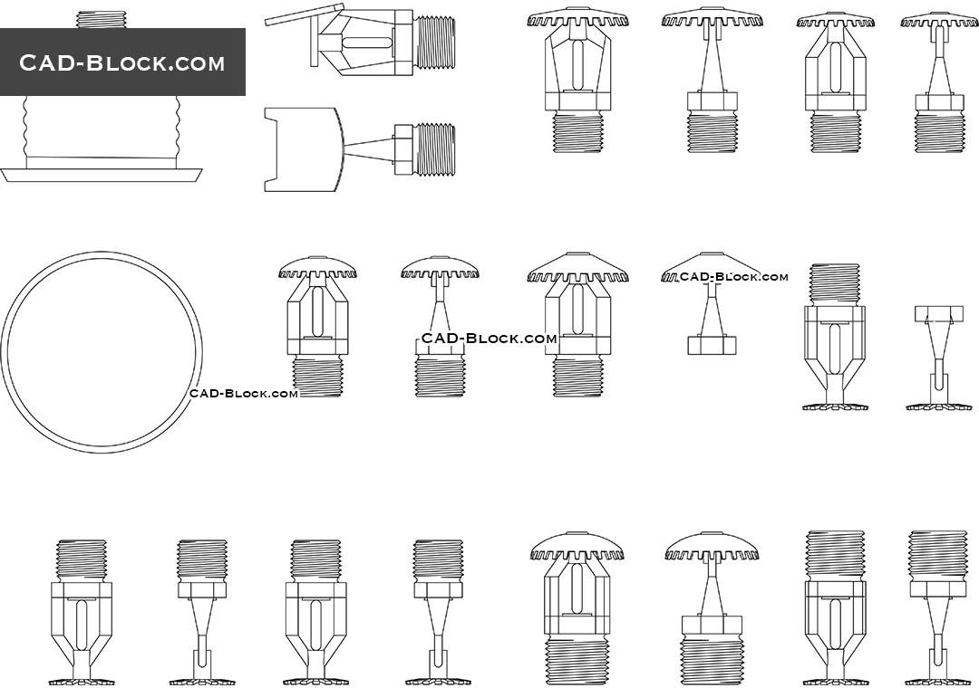 Fire Sprinklers Cad Blocks Free Autocad File Download