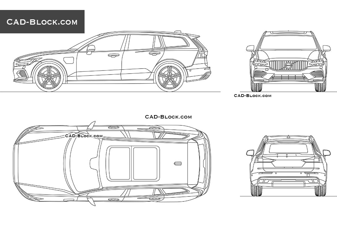 Volvo V60 - CAD Blocks, AutoCAD file
