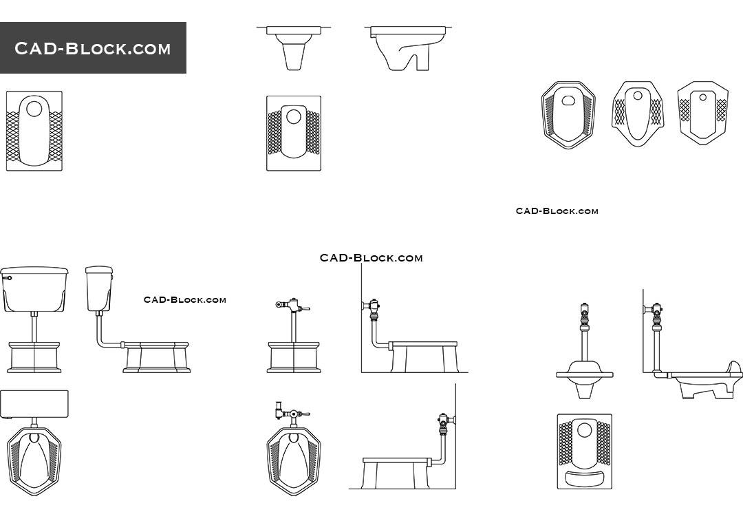 Squat Toilet CAD Block, download free AutoCAD drawings