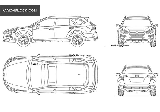 Subaru Outback - download free CAD Block