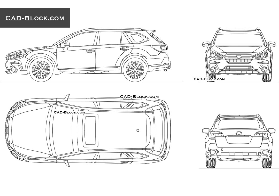 Subaru Outback - CAD Blocks, AutoCAD file