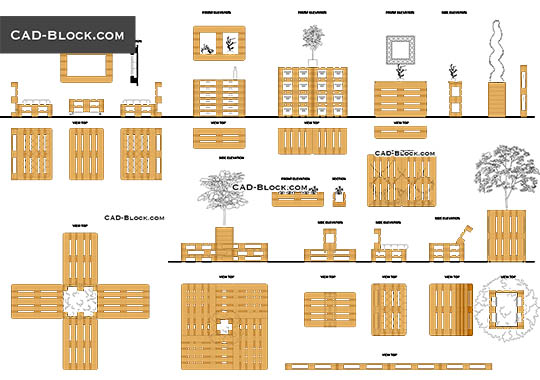 Pallet Furniture buy AutoCAD Blocks