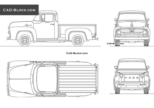 Ford F100 (1956) buy AutoCAD Blocks