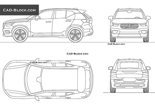 Volvo XC40 buy AutoCAD Blocks