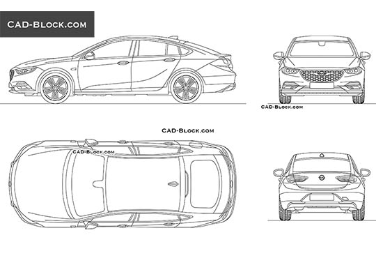 Opel Insignia buy AutoCAD Blocks