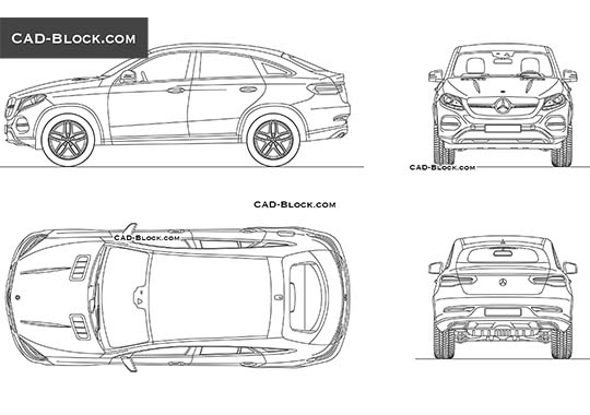 Mercedes GLE Coupe - free CAD file
