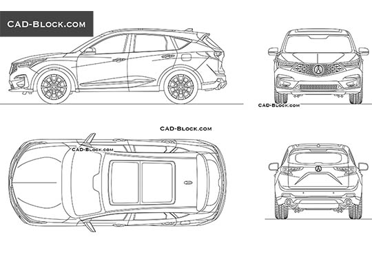 Acura RDX buy AutoCAD Blocks