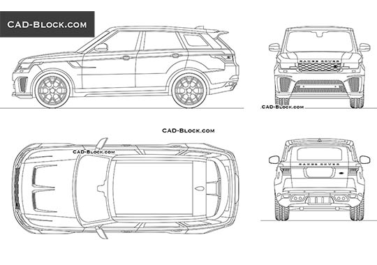 Range Rover Sport (2018) buy AutoCAD Blocks