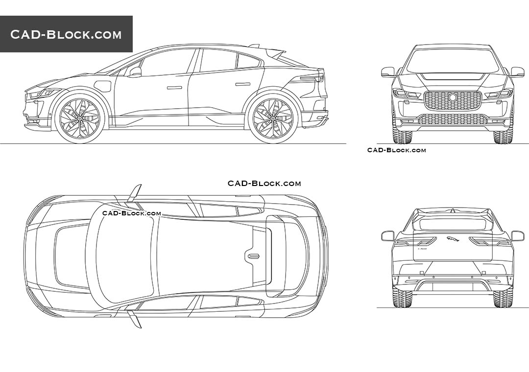 Jaguar I-Pace - CAD Blocks, AutoCAD file