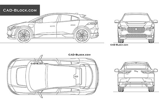 Jaguar I-Pace - download free CAD Block