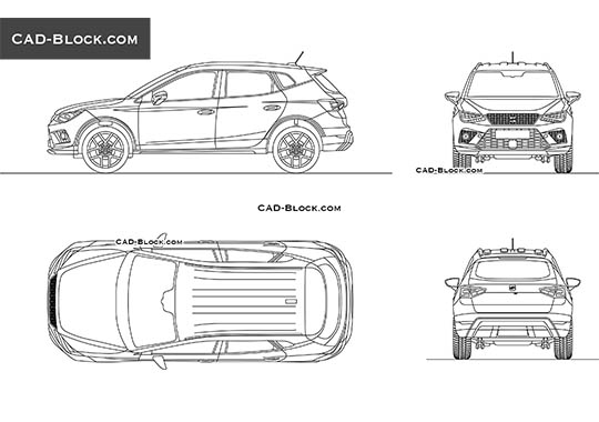 Seat Arona - download free CAD Block