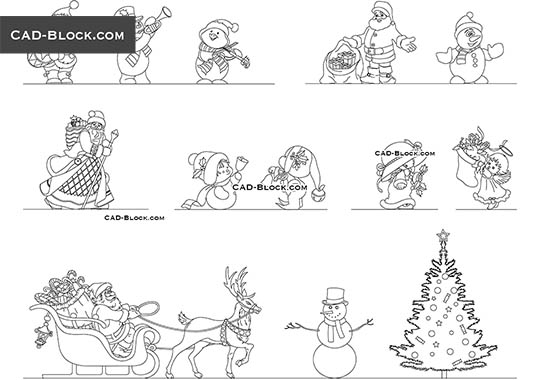 Christmas Set buy AutoCAD Blocks