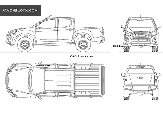Isuzu D-Max Double Cab - download free CAD Block