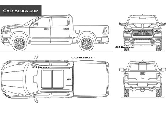 Dodge RAM 1500 buy AutoCAD Blocks