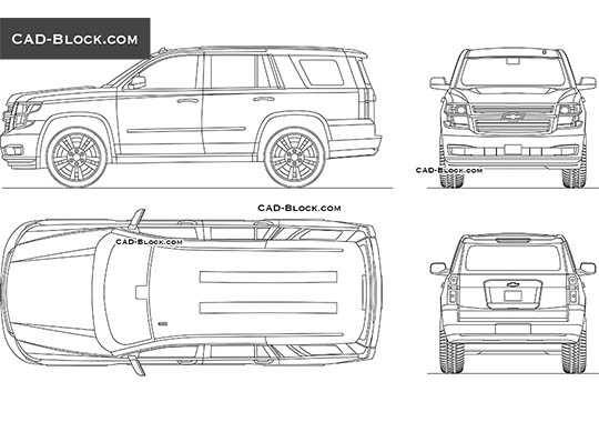 Chevrolet Tahoe buy AutoCAD Blocks