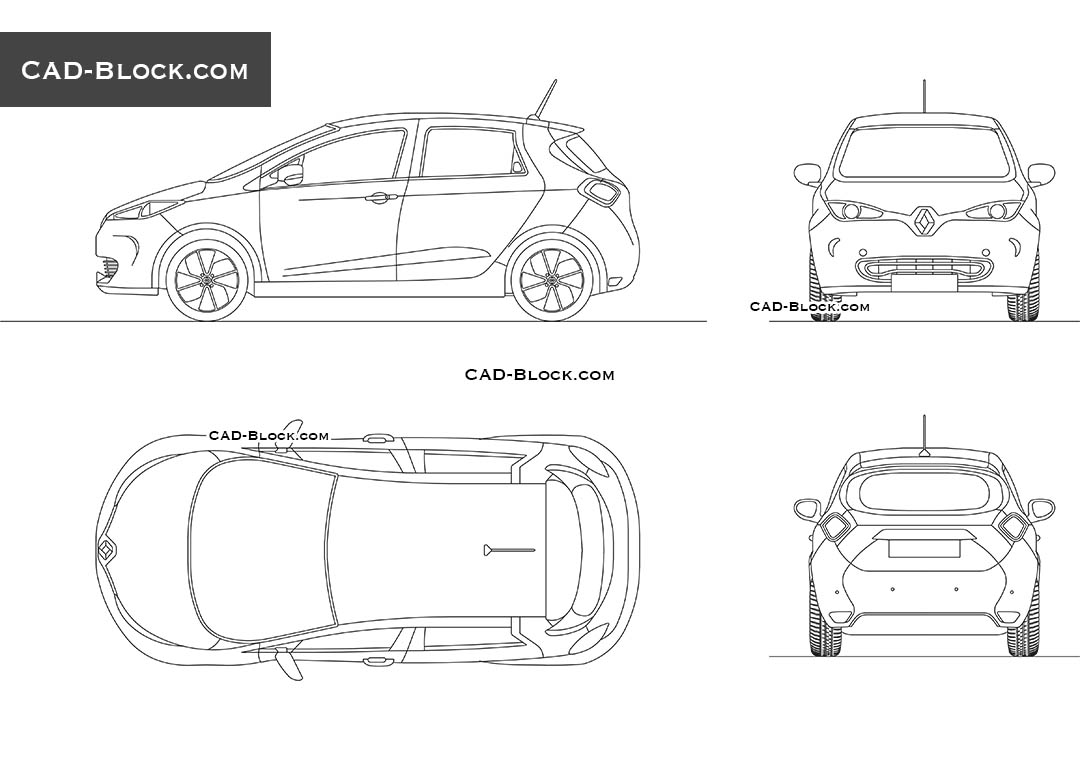 Renault Zoe - CAD Blocks, AutoCAD file