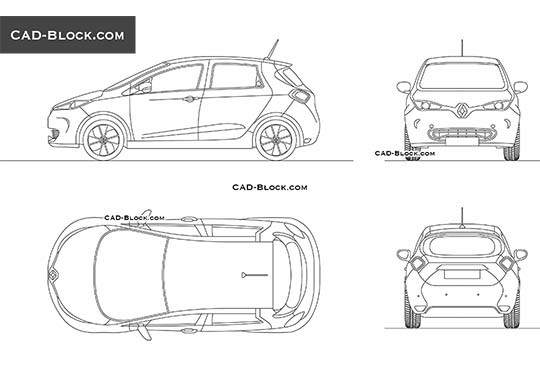 Renault Zoe buy AutoCAD Blocks