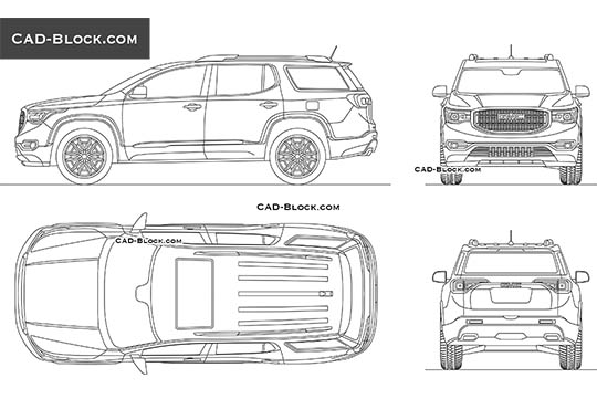 GMC Acadia buy AutoCAD Blocks