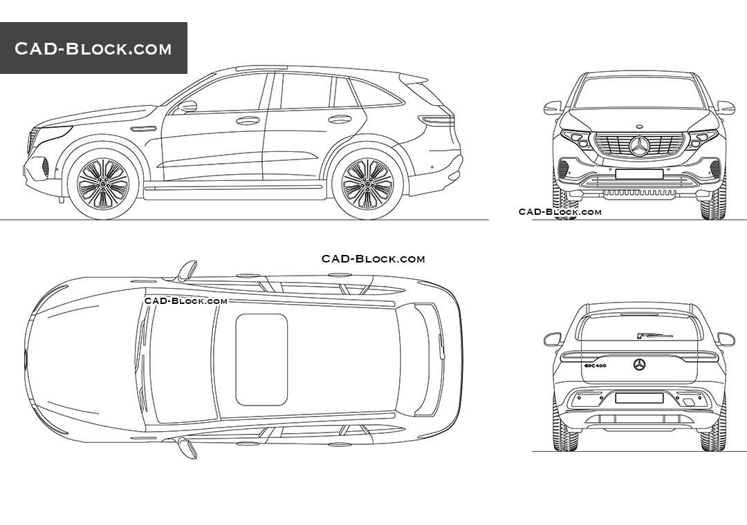 Mercedes-Benz EQC - CAD Blocks, AutoCAD file